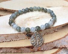 Lebensbaum Lotus Armband Labradorit Mondstein Mala Armband
