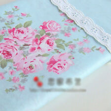 Blue Large Floral Cotton Sheeting Bedding Homeware Craft Shabby Chic 1M Fabric