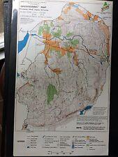 Vintage Pound Ridge Reservation NY Orienteering map pub. 1971 hiking jogging ski