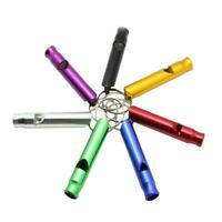 6 pcs Mixed Aluminum Emergency Survival Whistle for Camping Hiking Outdoor Tools