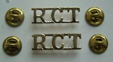 British Army Royal Corps of Transport Anodised Shoulder Titles