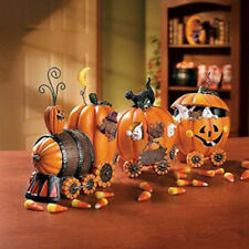 FE-OTC Halloween Decor - Pumpkin Express Resin Train
