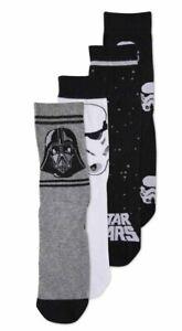 Mens Star Wars Socks 4 Pack 6-11 UK