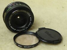 Vivitar MC Close Focus Wide Angle 28mm 1:2.8 Lens Pentax PK Mount, Filter + Caps