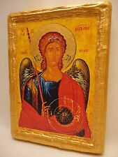 Saint Michael The Archangel Rare Greek Orthodox Religious Icon Art Plaque