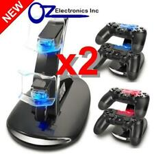 2 x Dual PS4 Wireless & Wired controller charging stand USB Cable BRAND NEW