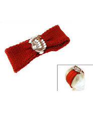 Embellished Rust Colored Knitted Head Band