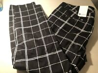 STYLUS Women's Super Soft Pants Black And White  Size: 16 NWT