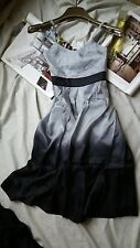 PARIS GOOD LOOK 100%silk Gray & Black wear to work casual dresses size S