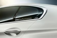 2x BMW M Performance Glasaufkleber geätzte Oberfläche  200x19mm Sticker