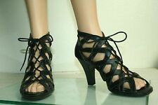 Womens  r2 Report Gage high heel shoes black lace up size 9