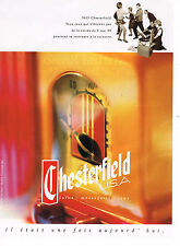 PUBLICITE ADVERTISING 074  1992  CHESTERFIELD    cigarettes 2