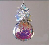 40mm Cluster Ball Suncatcher made with 100% Swarovski Crystal Aurora - Gift Box