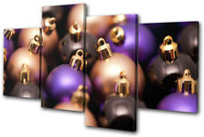 Baubles Decorations Christmas MULTI DOEK WALL ART foto afdrukken