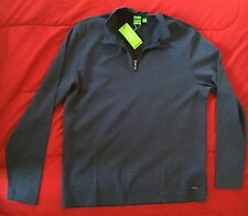 Hugo Boss C-Piceno 1/4 Zip Sweater Navy Blue Size XXL Nwt Boss Green $165