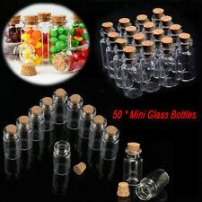 40mm Small Mini Empty Glass Jars Corks Wedding Favours Diy Craft Art Vial Bottle