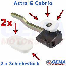2 x Schiebestück Cabrio Verdeck Faltdach Reparatur Satz Verschlusshaken Gestell