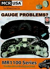 Chevrolet GM GMC Instrument Cluster Full Rebuild  PRNDL and power.loss. + guages