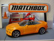 2019 Blue Highways Design '16 Chevy Camaro Conv'T ☆Inferno orange☆Matchbox Loose