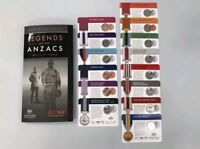 2017 Legends of the Anzacs Medals of Honour Full Collection in Folder 14 Coins .