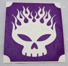 GT102 Body Art Temporary Glitter Tattoo Stencil Flaming Skull