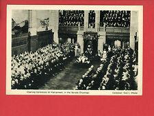 CANADA PARLIAMENT 1936 SENATE CHAMBER CEREMONY POSTCARD