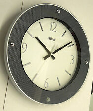 """CONTEMPORARY LOOKING ROUND 11.75"""" WALL CLOCK MADE BY THE HERMLE CLOCK COMPANY"""