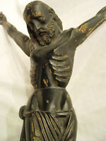 Catholic Antique colonial Wood carved church altar passion holy Crucifix Museum
