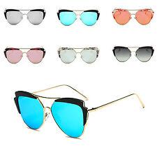 Lentes espejados de Moda para Mujer Gafas De Sol Ojo De Gato Marco de Calidad de Marca de Diseñador