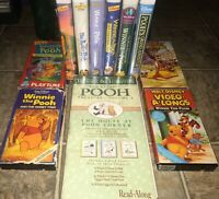 LOT OF 11 Disney Winnie the Pooh Clamshell VHS & TREASURY VOL 3 Cassette Tapes
