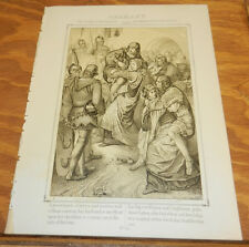 1863 Antique Print/THE WOMEN OF WEINSBERG, IN GERMANY, IN 1140
