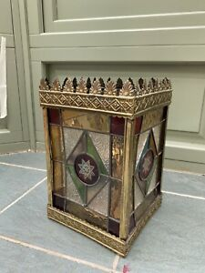 Victorian/edwardian Stained Glass Hall Lantern