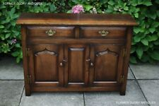 TITCHMARSH AND GOODWIN SOLID OAK DRESSER BASE SIDEBOARD CABINET HALL LAMP TABLE