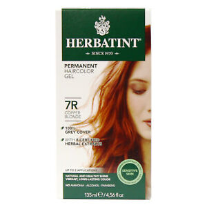 Herbatint Permanent Haircolor Gel 7R Copper Blonde 4.56 fl oz FREE Shipping