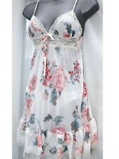 aab88468ae Floral Babydoll Nightie And Brief Set Lingerie. Ideal For Valentines Size 8