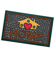 Zerbino ingresso 40x70 gomma antiscivolo HOME moderno tappeto esterno casa cuore
