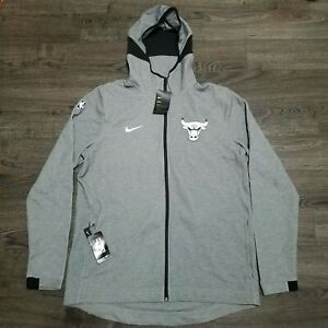 Nike NBA Chicago Bulls Player Issued Dri fit Showtime Hoodie Mens XL Tall Jacket