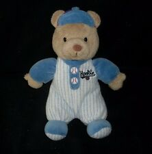"10"" CARTER'S THE ROOKIE BASEBALL BABY TEDDY BEAR RATTLE STUFFED ANIMAL PLUSH TOY"