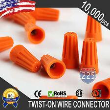 10000 Orange Twist-On Wire GARD Connector Conical nuts 22-14 Gauge Barrel Screw
