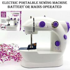 ELECTRIC TRAVEL PORTABLE MINI SEWING STITCH MACHINE ADJUSTABLE UK PEDAL FOOT LED