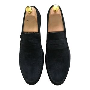Paul Smith MANCINI Blue suede Loafer Shoes UK 7 EU 41