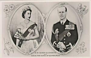 H.M. Queen Elizabeth II and Duke of Edinburgh, H.R.H Prince Philip - Real Photo