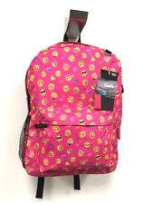 Emoji Backpack Pink School Bag Pack Back Shoulder Smile Smiley Face Emoticon USA