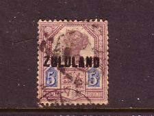 ZULUAND....  1888  5d purple and blue used overprinted on GB stamp....cv £120
