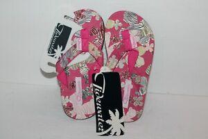 Tidewater Flip Flop Sandals, Pink/Tan, Children's  US Size 8/9 C