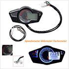 15000 RPM LCD Digital Motorcycle Odometer Speedometer Tachometer Gauge Universal