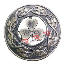 "Fly Plaid Kilt Brooch Irish Shamrock Unisex Adult Pin Jewelry Antique 3""(7cm)"