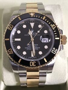 Rolex Submariner 116613LN 18k Gold Two Tone 40mm