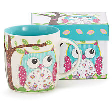 Calico Owl Coffee or Tea Mug-New Item-Brand New #9721615