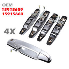 4PCS/Set Outside Exterior Chrome Door Handle  OE 15915659 For Chevy GMC Cadillac